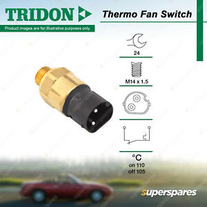 Tridon Thermo Fan Switch for BMW 318iS E36 1.8L M43 DOHC 16V Petrol