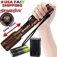 High Power Zoom 50000Lumens 5 Modes T6 LED Light Flashlight Torch 18650 Charger