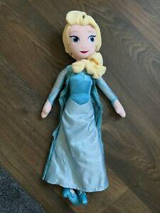 """Disney Store Frozen 'Elsa' 19"""" Plush Excellent Condition"""
