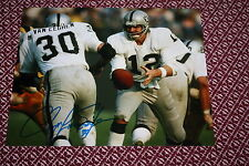 OAKLAND RAIDERS MARK VAN EEGHEN SIGNED 8X10 PHOTO SUPER BOWL XI POSE 2