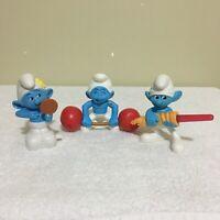 Lot of 3 x The Smurfs 2011 McDonalds Happy Meal Figures Toys Bundle