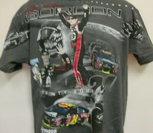 Jeff Gordon # 24 Hendrick Total Print T-Shirt From Checkered Flag - Adult Medium