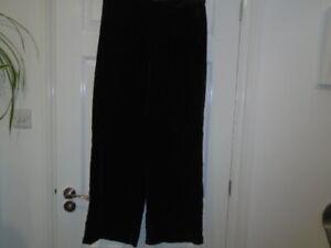 Black velvet wide leg trousers, MARKS AND SPENCER, size 12, inside leg 31
