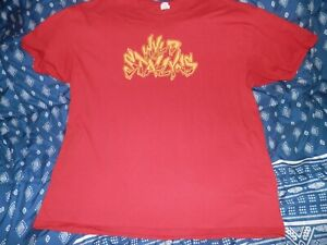 """Bill And Ted """"Wyld Stallyns"""" T Shirt Red Size XL"""