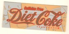 "Caffeine Free Diet Coke Vending Machine Insert, Script Logo, 1 3/8"" x 3 3/8"""