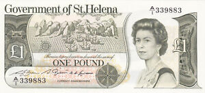 1 POUND UNC  BANKNOTE FROM GOVERNMENT OF ST.HELENA 1981  PICK-9