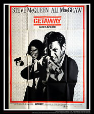 GETAWAY Steve McQueen 4x6 ft French Grande Movie Poster Original 1972