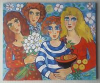 Josip PERELMAN b 1966 large fantastic signed original oil painting 'Le Cadet'