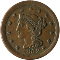 1852 Large Cent N-6 R.2 Great Deals From The Executive Coin Company - BBLC3724