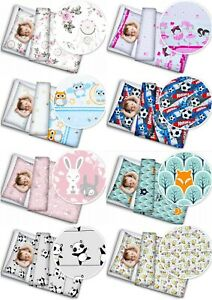 BABY 2PC BEDDING SET PILLOWCASE + DUVET COVER NURSERY 120X90CM TO FIT COT