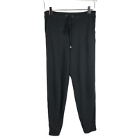 Splendid Womens Soft Jersey Knit Jogger Pants Size XS Black Drawstring Pockets