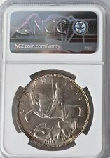 More details for 1935 crown ngc ms64+ great britain rocking horseincuse edge lettering uk