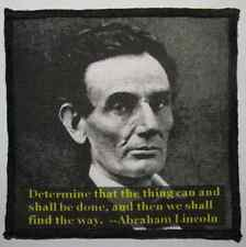 ABRAHAM LINCOLN QUOTE - Printed Patch - Sew On - Vest, Bag, Backpack, Jacket!
