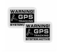 2x Autocollant Stickers Factice Dissuasif GPS System Tracker Voiture Moto Camion
