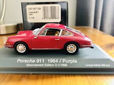 Minichamps 1:43 Porsche 911 1964 Purple Abonnement Edition Very Rare 430 0067129