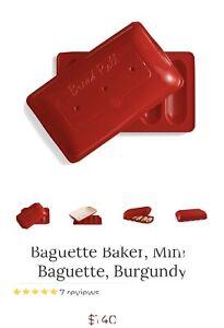 Emile Henry Baguette Baker, Mini-Baguette ,  Burgundy