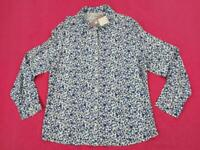 Womens EWM Floral Long Sleeve Shirt Blouse Top Button Up Multi Regular UK16