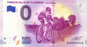 BELGIQUE Famous hills of Flanders, Tour des Flandres, 2019, Billet Euro Souvenir
