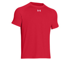 Under Armour Men's Heat Gear Short Sleeve T-Shirt Loose Fit - Red - Large    K-7