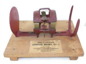 Antique Cast Iron PHILADELPHIA ASPARAGUS BUNCHER No. 1 w/ Label TJ Magee ~ T159