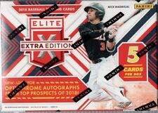 2018 Panini Elete Edition Baseball Cards Blaster Box 2 Hits per Box on Average