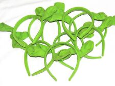 SHREK~ LOT  OF  10  HEADBANDS EARS, FABRIC/PLASTIC  -PARTY SUPPLIES