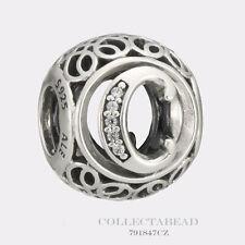 Authentic Pandora Sterling Silver Vintage C Clear CZ Bead 791847CZ