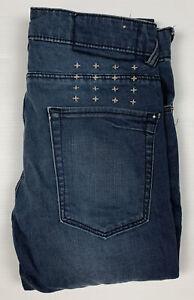 Ksubi Van Winkle Lennon Men's Blue Denim Jeans Size 29 Button Fly Skinny