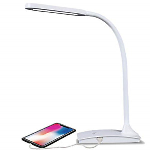 TW Lighting IVY-40WT The IVY LED Desk Lamp with USB Port, 3-Way Touch Switch,