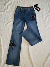 Lawman Western Denim Jeans With Star Accents Size 1 New With Tags