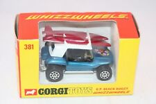 Corgi Toys 381 G.P. Beach Buggy blue PERFECT MINT IN MINT BOX