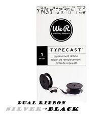 American Crafts We R Memory Keepers Typecast Typewriter Ribbon Silver / black