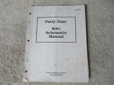 Party Zone wpc schematic only pinball midway arcade game manual