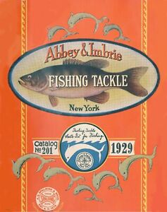 1929 Fishing Tackle Catalog Cover Art Print Vintage Bass Lures Cabin Wall Decor