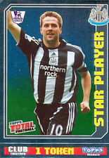 N°315 STAR PLAYER NEWCASTLE UNITED STICKER TOPPS PREMIER LEAGUE 2009