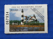 U.S. (NC10) 1992 North Carolina State Duck Stamp (MNH)