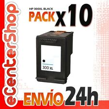 10 Cartuchos Tinta Negra / Negro HP 300XL Reman HP Deskjet F2420 24H