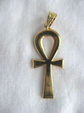 "Egyptian Ankh ""Key of Life"" 18K Yellow Gold Pendant 1.6"" Long  (By Order)"