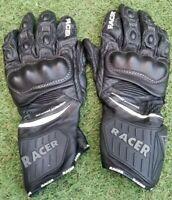 Racer wing advanced protection Men's Biker Glove Sport Leather - Black
