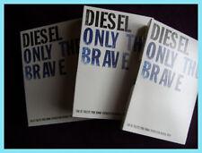 Diesel ONLY THE BRAVE  3 x 1.2ml EDT Eau de Toilette samples / vials