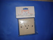 Caravan / Motorhome CLIPSAL 3 PIN SOCKET 2 Amp  By Plug in Systems Colour Beige