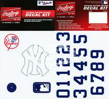 New York Yankees MLB Baseball Batting Helmet Rawlings Decal Kit