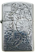 RARE VINTAGE JAPANESE GEISHA SOLID STERLING SILVER ZIPPO CIGARETTE LIGHTER