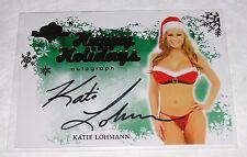2012 Benchwarmer KATIE LOHMANN Happy Holidays Gold Foil Auto PLAYBOY Playmate