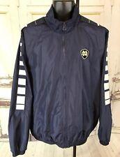 Adidas Notre Dame Track Jacket Lined Full Zip Men Large 3stripe Trefoil NCAA