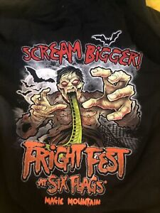 Fright Fest Six Flags Great Adventure Scary Zombie Sweatshirt Hoodie Size Small