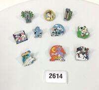 Disney Lot of 10 Hidden Mickey Cast Lanyard Trading Trader Pins OLDER Rarer 2614