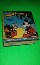 SCARCE 1934 MICKEY MOUSE TREASURE ISLAND GREAT BIG MIDGET BOOK  BIG LITTLE BOOK
