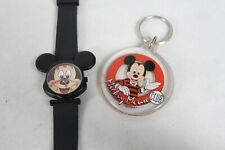 Vintage Mickey Mouse Collectable Lot Watch Key Chain Club House Time Works