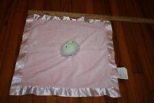 HALLMARK Pink Green LILA FROG Ruffle Mini Blanket Plush Baby Security LOVEY